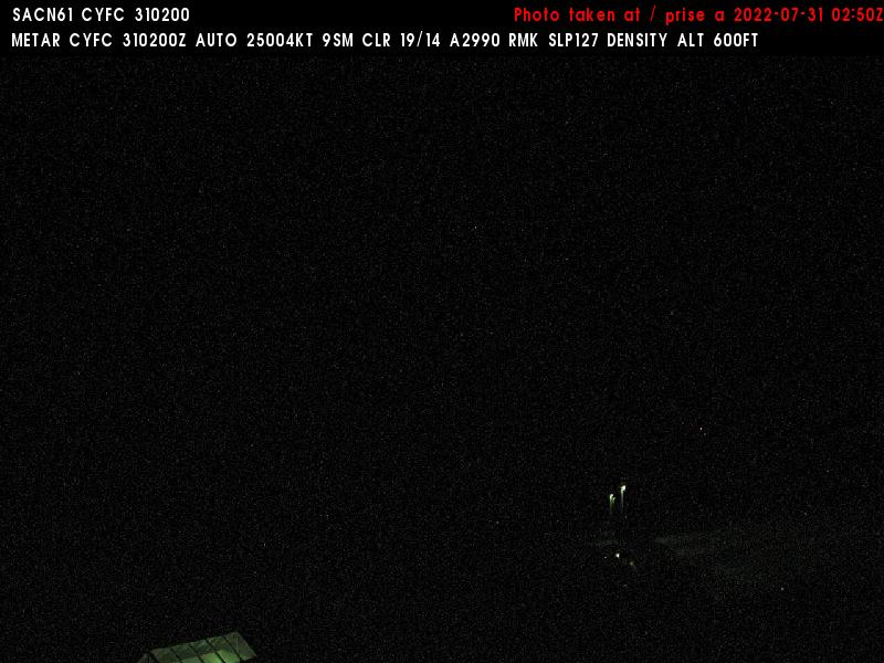 Web Cam image of Fredericton Airport (East)