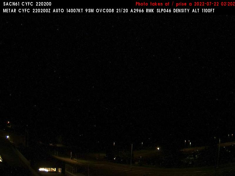 Web Cam image of Fredericton Airport (North)