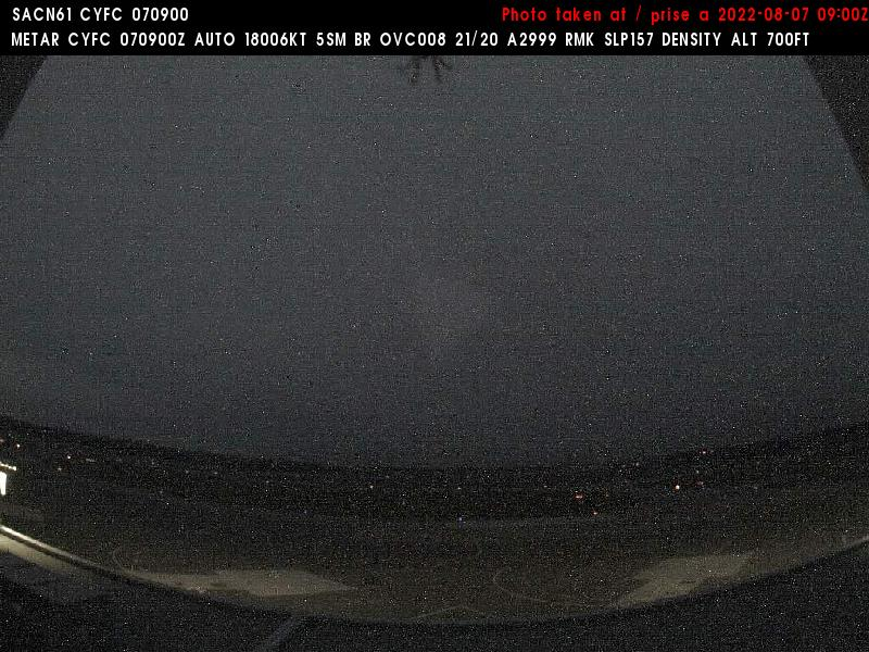 Web Cam image of Fredericton Airport (South West)