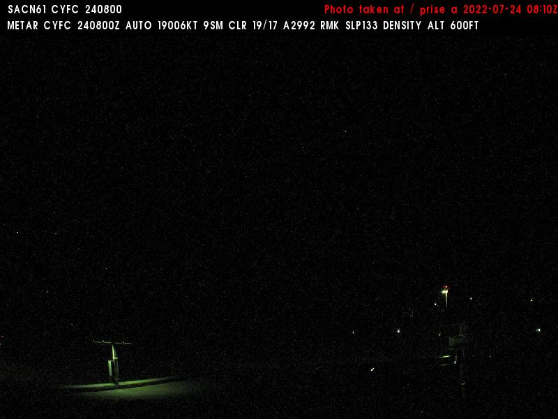 Web Cam image of Fredericton Airport (West)