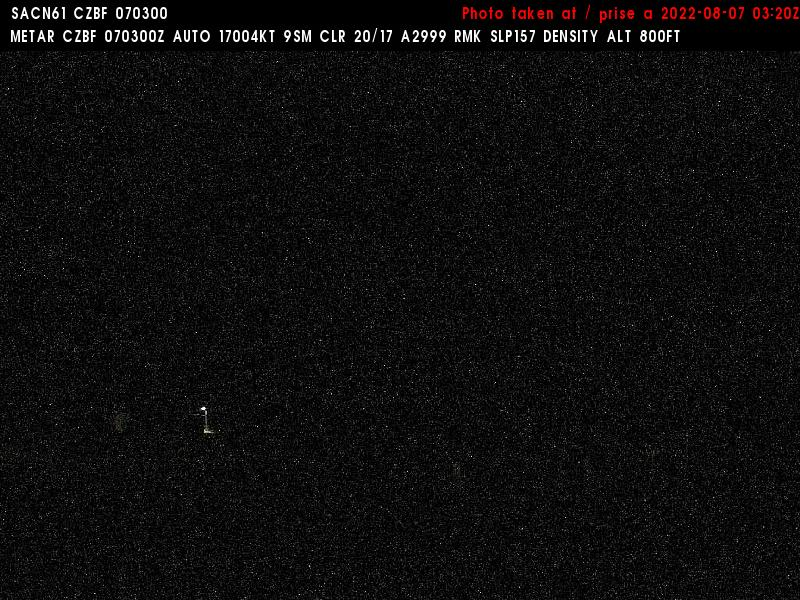 Web Cam image of Bathurst Airport (East)